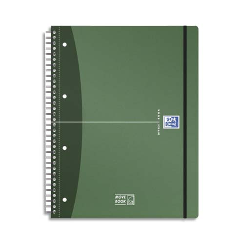 Code 139663, Désignation: OXFORD Cahier couv PP spiralé Urban Mix MOVEBOOK A4+, 160 pages 90g détachables perforées 5x5